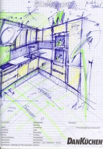 Skica kuchyňa 1